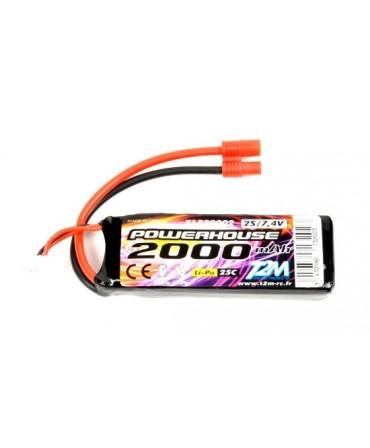 Batterie LiPo 2S 7,4V 2000mah 25C T2M