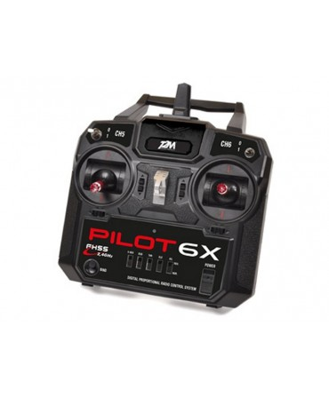 Radiocommande Pilot 6X 6 voies 2,4Ghz FHSS MODE1