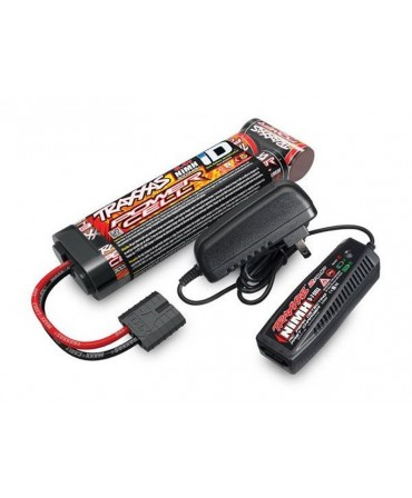 Pack chargeur 2969G + 1 X NiMH 8,4V 3000mAh 2923X prise TRAXXAS 2983G