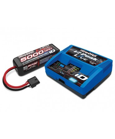 Pack chargeur EZ Peak LIVE 2971G + 1 X LiPo 4S 5000mAh 2889X prise TRAXXAS 2996G