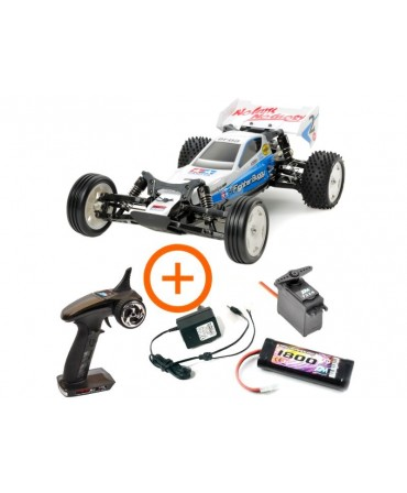 TAMIYA LOT COMPLET RC NEO FIGHTER BUGGY METAL KIT DT-03 58587L