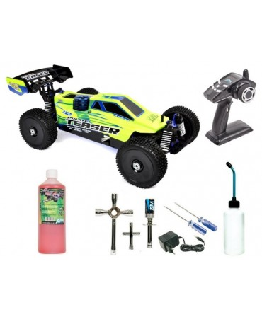 PACK DEBUTANT T2M PIRATE TEASER 1/10 4WD 2,4Ghz RTR