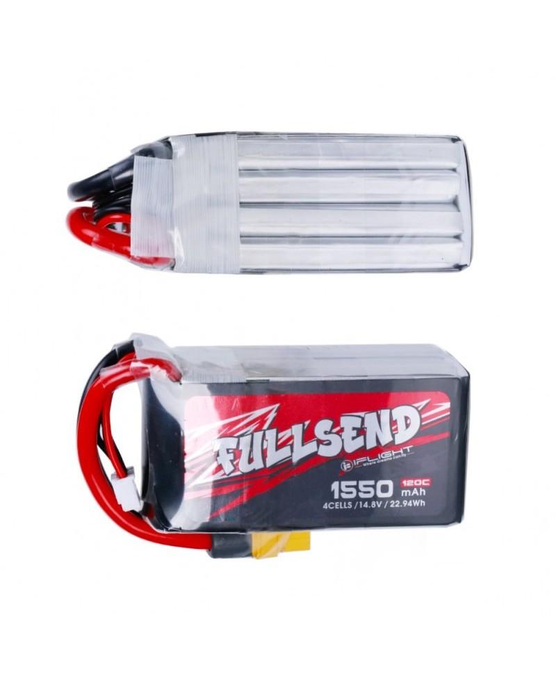 FULLSEND 4S 1550mAh 120C LiPo Batterie - XT60H pour FPV Racing RC Drone LB07444