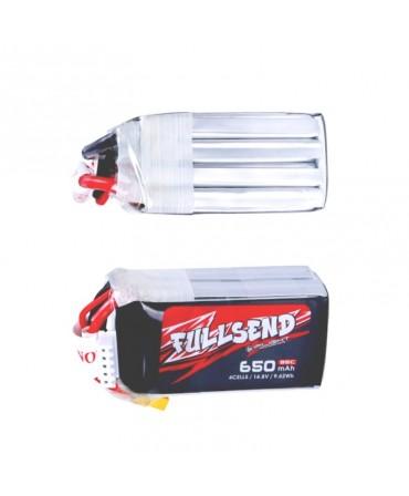 FULLSEND 4S 650mAh 95C LiPo Batterie - XT30U pour FPV Racing RC Drone LB07439