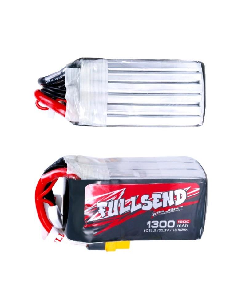 FULLSEND 6S 1300mAh 120C LiPo Batterie - XT60H pour FPV Racing RC Drone LB07443