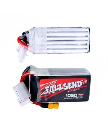FULLSEND 6S 1050mAh 120C LiPo batterie - XT60H pour FPV Racing RC Drone F008913-XT60H