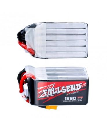 FULLSEND 6S 1550mAh 120C LiPo batterie - XT60H pour FPV Racing RC Drone F008393